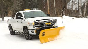 does a snow plow damage a truck